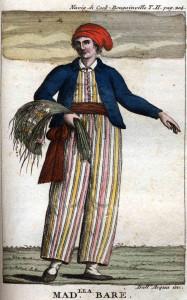 Jeanne Baret vestida de marinero, según un retrato posterior a su muerte. Fte www.Wikipedia.org