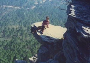 Gonzalo Mateo en el Pico Ranera (1430m) durante sus trabajos de campo.
