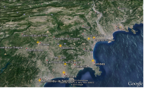 En esta imagen de google earth se aprecia la elevada urbanización de la zona costera