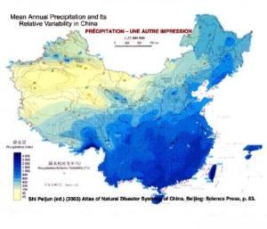 Vemos en amarillo nuestra zona, y la escasez de sus precipitaciones.